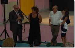 L'attrice Nicoletta Urso insieme ai nipoti dello scrittore e a Claudio Russo